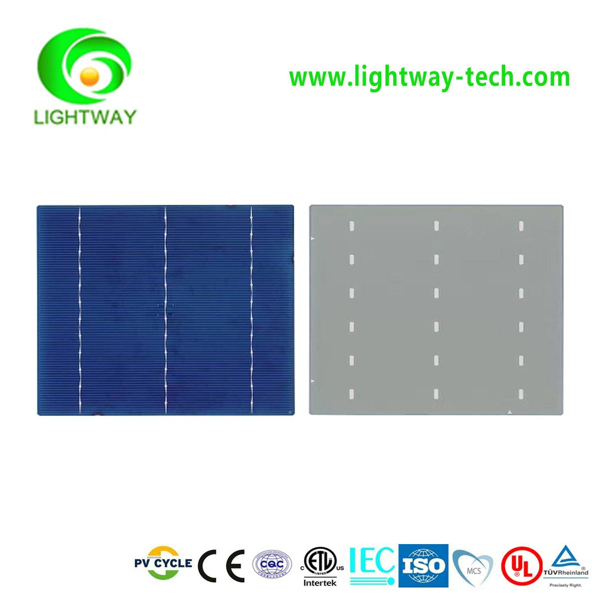 2016 hot sale Taiwan Brands 6*6 inch Poly  3BB 17.6-18.4% eff.A Grade solar cells