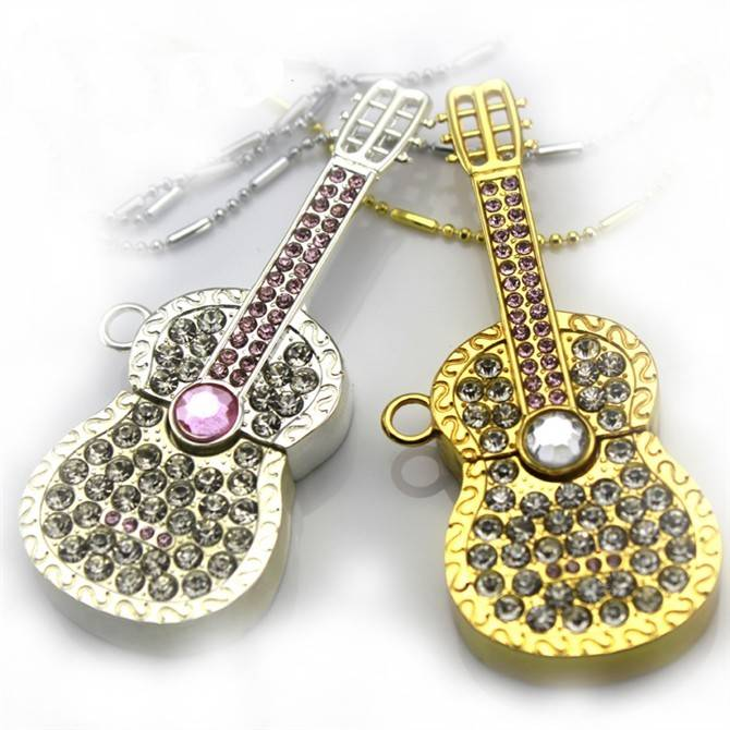 Jewelry Mini Guitar Memory Stick Flash Drive USB Flash Drive