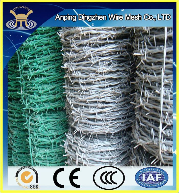 2015 China Factory Best Selling Barbed Wire For Sale / High Quality Barbed Wire Manufacture