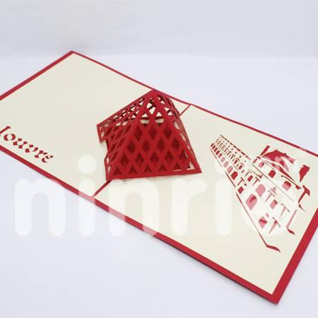 Louvre Pop Up Card Handmade Greeting Card