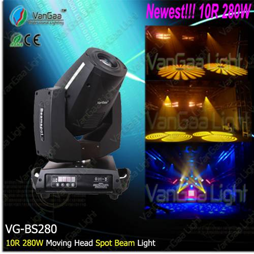 280W 10R spot moving head / moving head spot 280W/ 10R moving head stage lighting(VG-BS280)