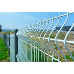Chain link fence with post