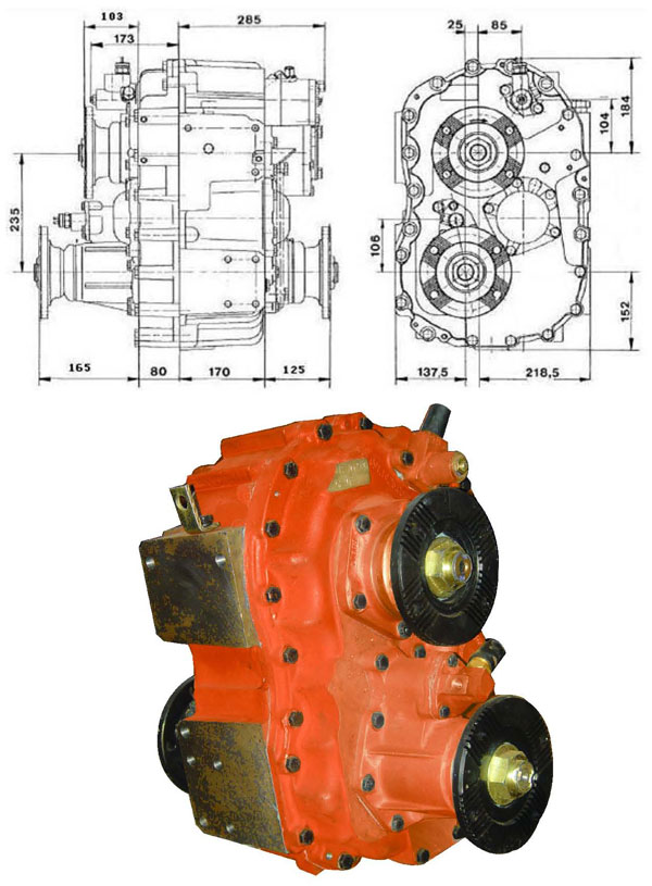 ZQC1200 gearbox for 44 46 all wheeled vehicles
