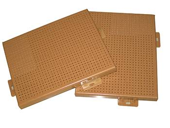 Perforated Aluminum Solid Panel with Wood Grain
