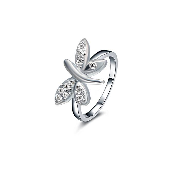 925 Marked Sterling Silver Butterfly Ring