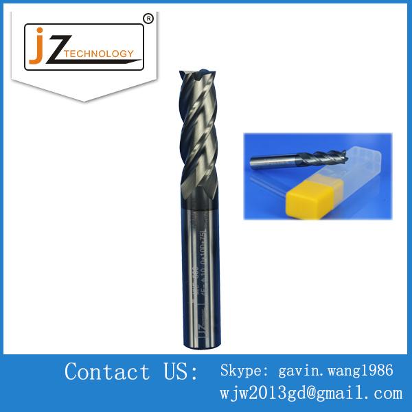 Precision CNC 4 flutes square Carbide end mills