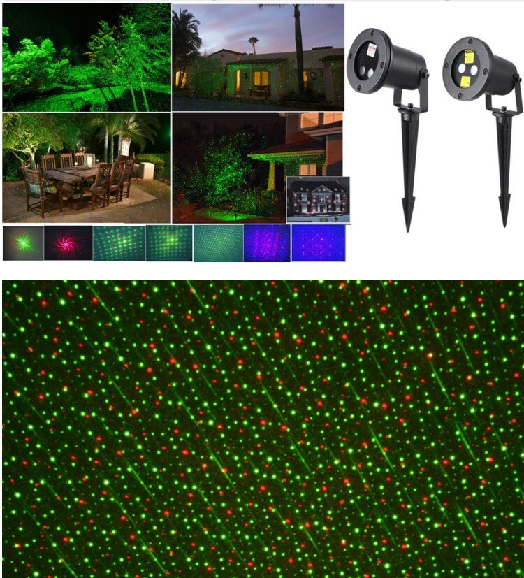 LED laser garden light RG 6w IP65 CE ROHS