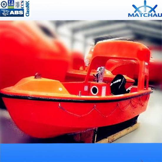 5.4m 15persons Open Type FRP Rescue Boat with Davit