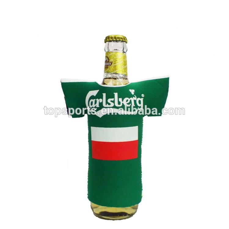 Cute T-shirt beer bottle holder,neoprene bottle cooler