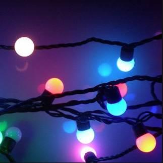 AA Battery Working LED Flashing Christmas Balls Lights