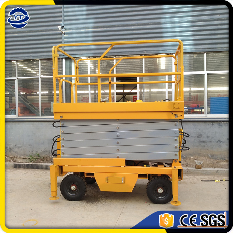 hydraulic mobile scissor lift aerial work table platform, mobile electric scaffolding