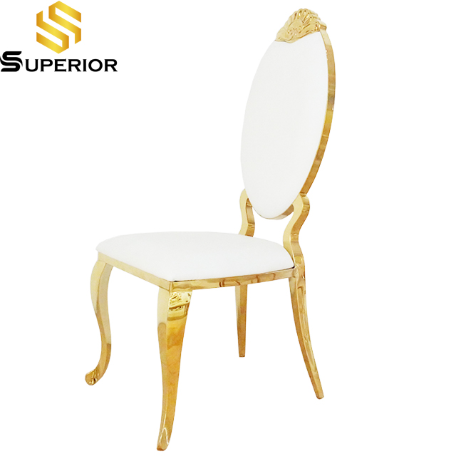 Hot sale king gold throne luxury wedding dining chair