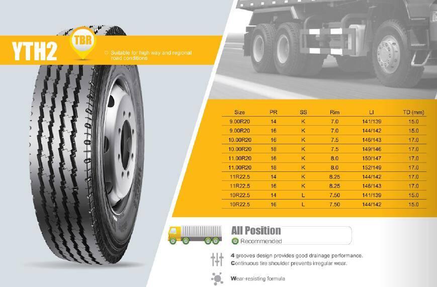 TBR Truck Tire Highway Long Haul YTH2