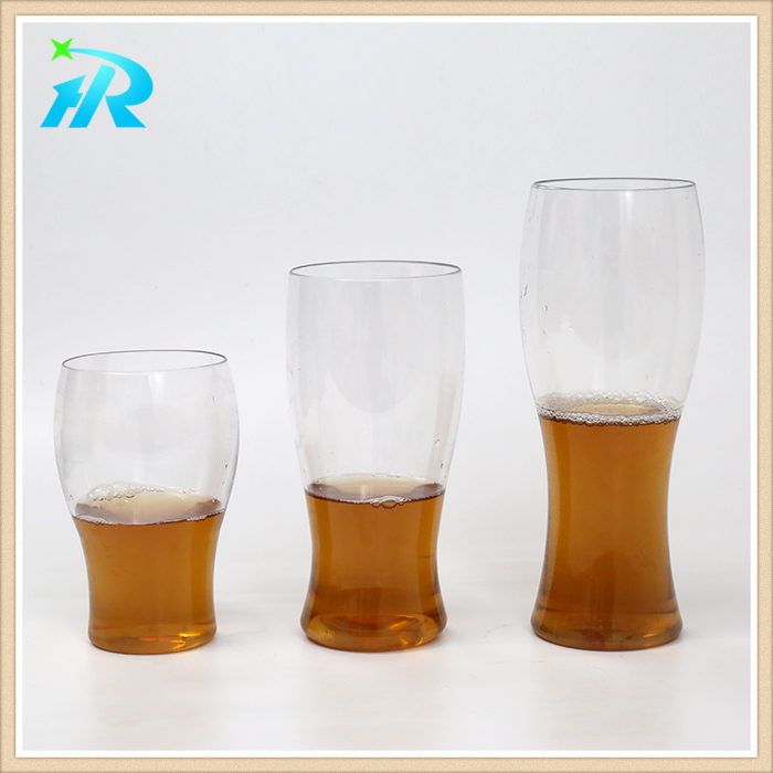Disposable polycarbonate large plastic drinking wine beer glasses