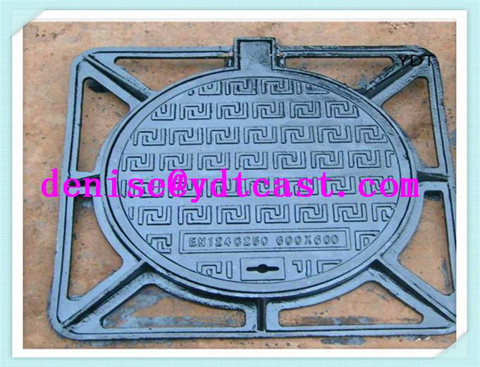 2015 Best selling ductile cast iron manhole cover corrosion resistant