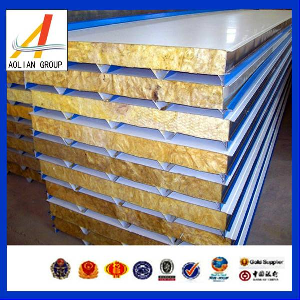 Modern Perfect Cheap Steel Coated and Fire-proof Rock Wool Sandwich Panel