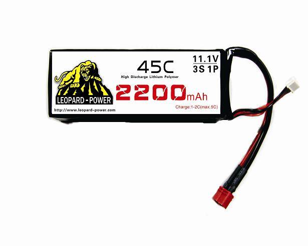 Leopard Power rc lipo battery for rc airplane 2200mah-3S-45C