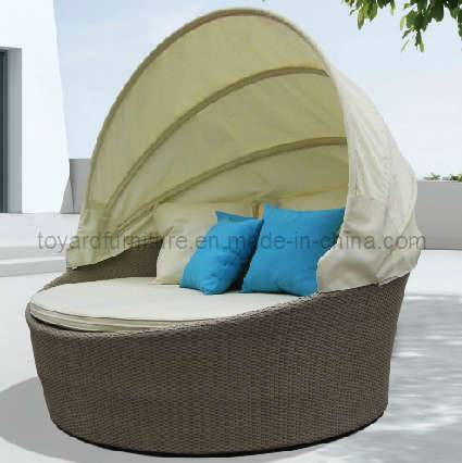 Hotel furniture round daybed with canopy (R913)