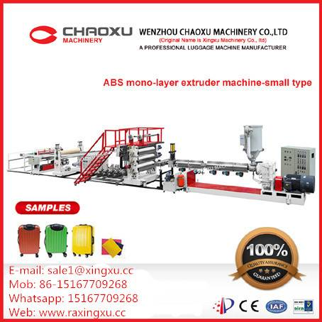 ABS Luggage Single Layer Plastic Extruder Plate Sheet Production Line Machine