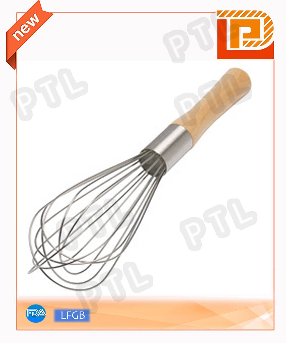 Stainless Steel Whisk With Wooden Handle