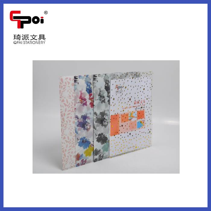 Stationery Supplier PP Report Cover A4 Paper Customized L Shape File Folder