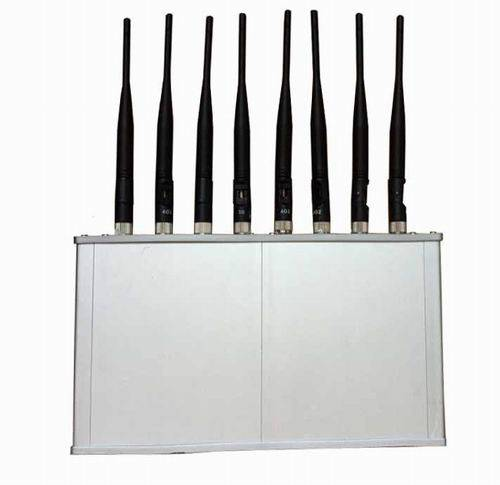 High Power 8 Antennas 16W 3G 4G Mobile phone WiFi Jammer with Cooling Fan