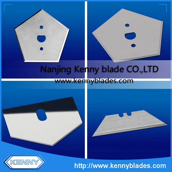 Pentagon And Trapezoid Tungsten Carbide Slitting Knife Blade