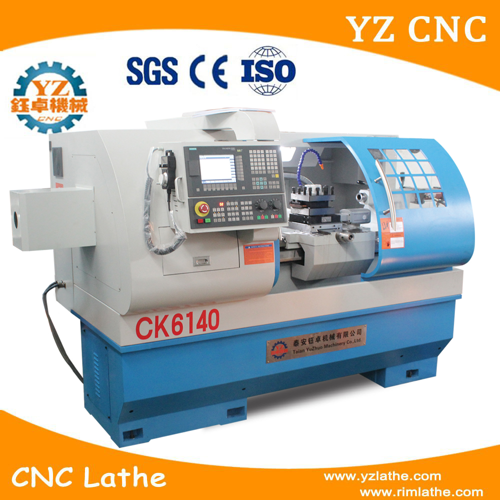 China hot selling automatic bench CNC lathe machine CK6140 for metal cutting