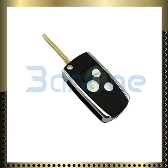 3 button car key shell with shiny edge for Toyota Camry
