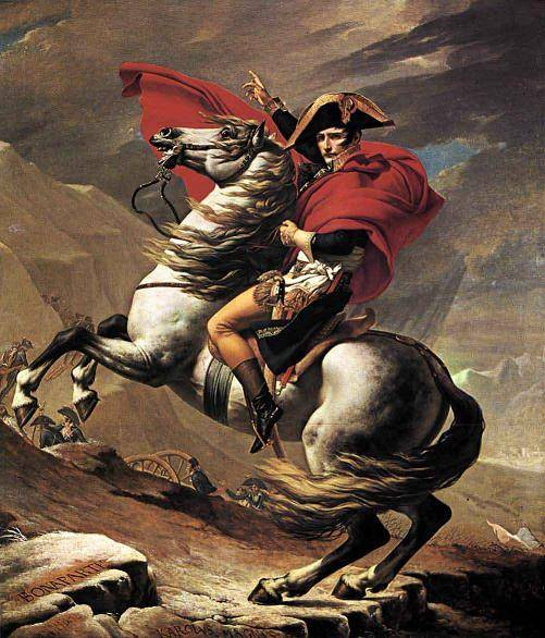 modern painting Napoleon Crossing the ST.Bernard--By Jacques Louis David