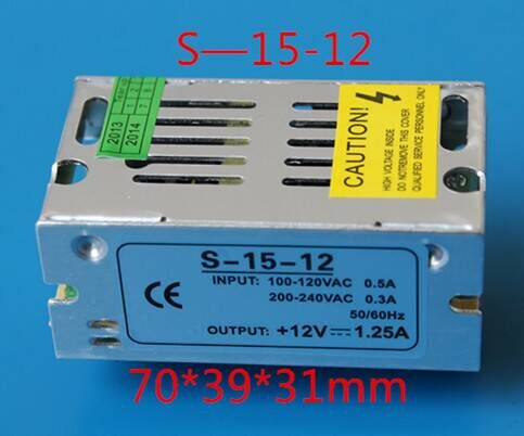 12v led power supply for LED lights 12V LED transfomer DC12V 15W Constant Voltage led driver indoor