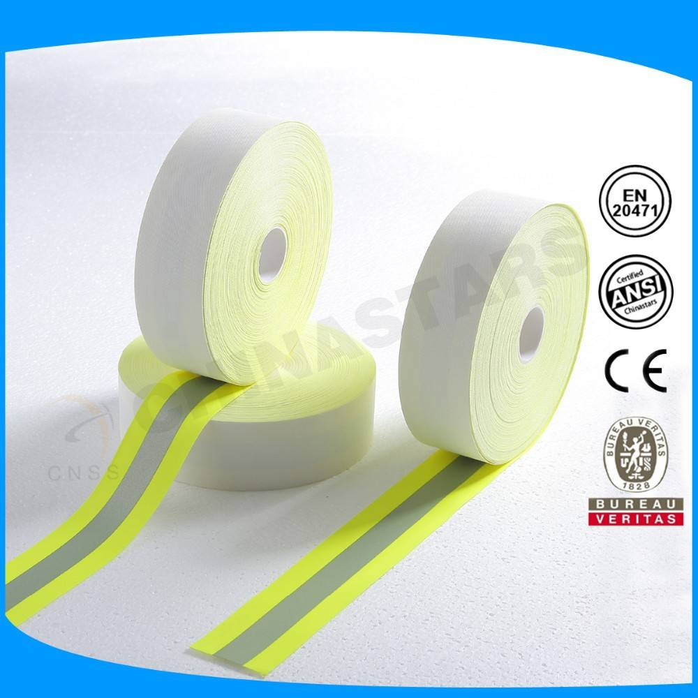 100% cotton silver 2.5cm reflective tape en471 flame retardant reflective tape