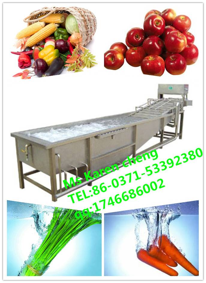 Hot vegetable cleaning machine