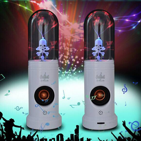 Magic Plasma Skull Light Speakers can purify the air and reduce,with sound responsive light show