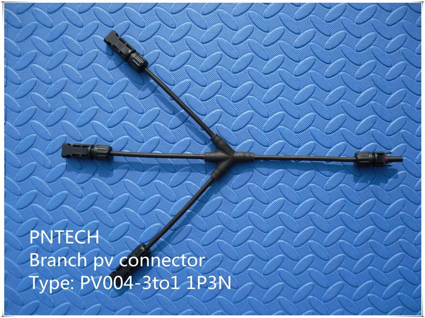 Ip67 Pv Connector 3 to 1 Branch Connector 3P1N/1P3N High Quality Solar Junction Box With Mc4 Connect