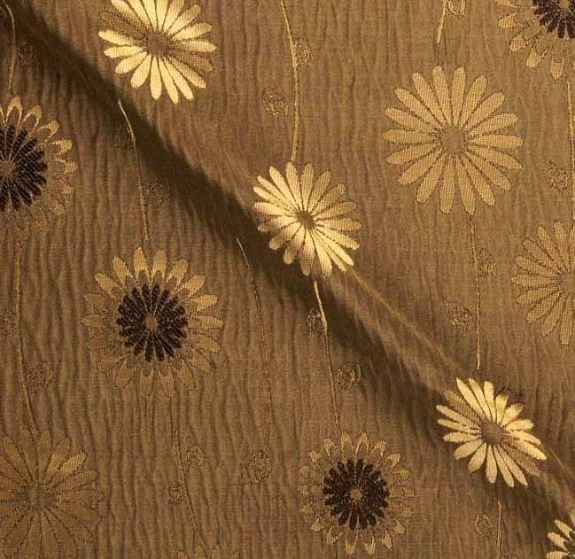 Poly Dupion Jacquard Silk Fabric