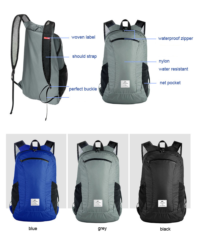 light weight strong foldable backpack