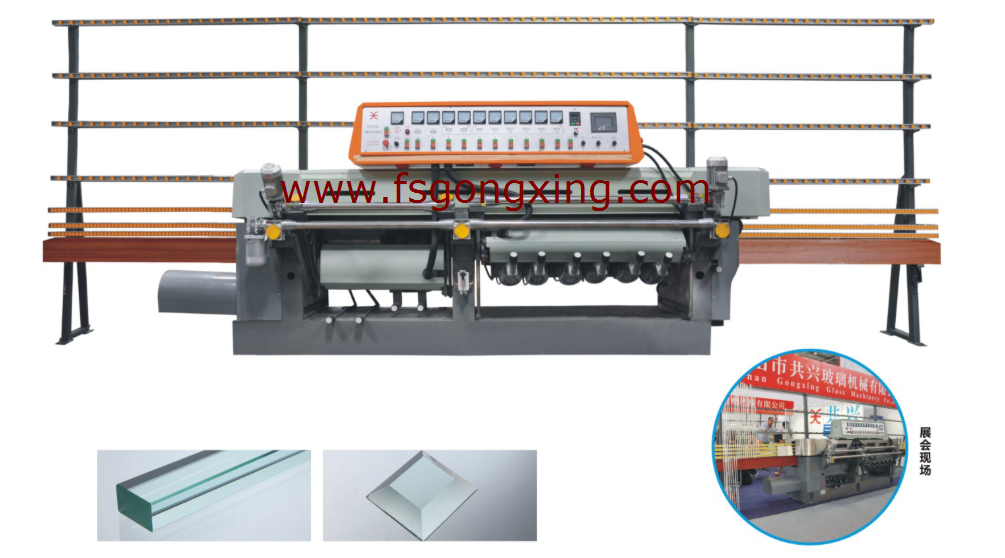 Model GXZ10D Glass Straight-line Mitering Machine