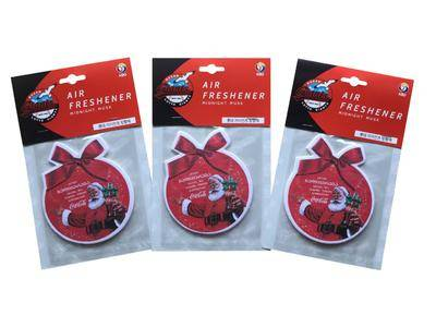 Customized Shaped Paper Car Air Freshener for Christmas Day Gift Promotion