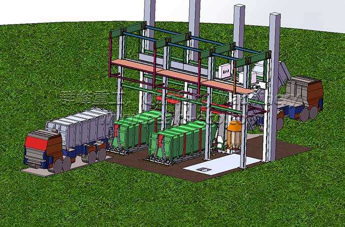 Underground Vertical Waste Transfer Station System