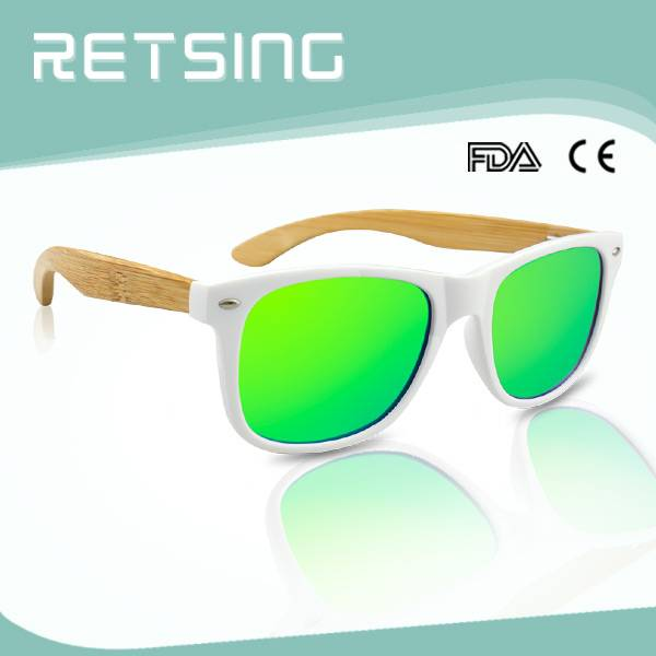 2015 Fashionable UV400 Polarized Bamboo PC & Bamboo Wooden Legs or arms Sunglasses from China
