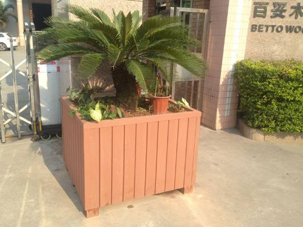 wood plastic composites flower boxes water proof rot resistance