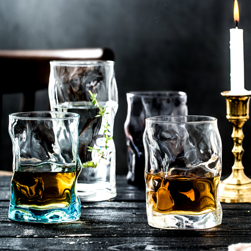 Elegant designed whisky glasses