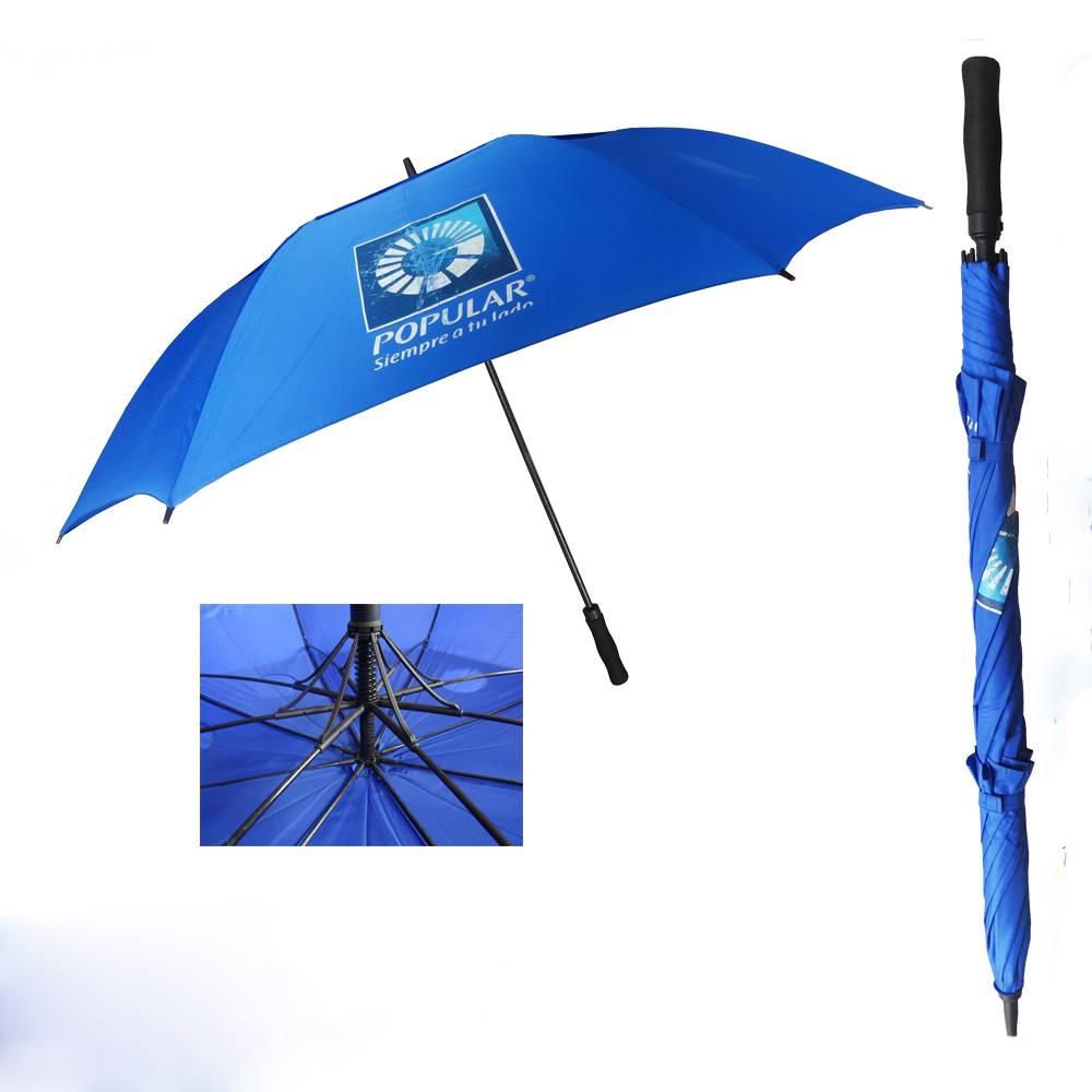 auto open fiber frame air golf umbrella, double layer golf umbrella