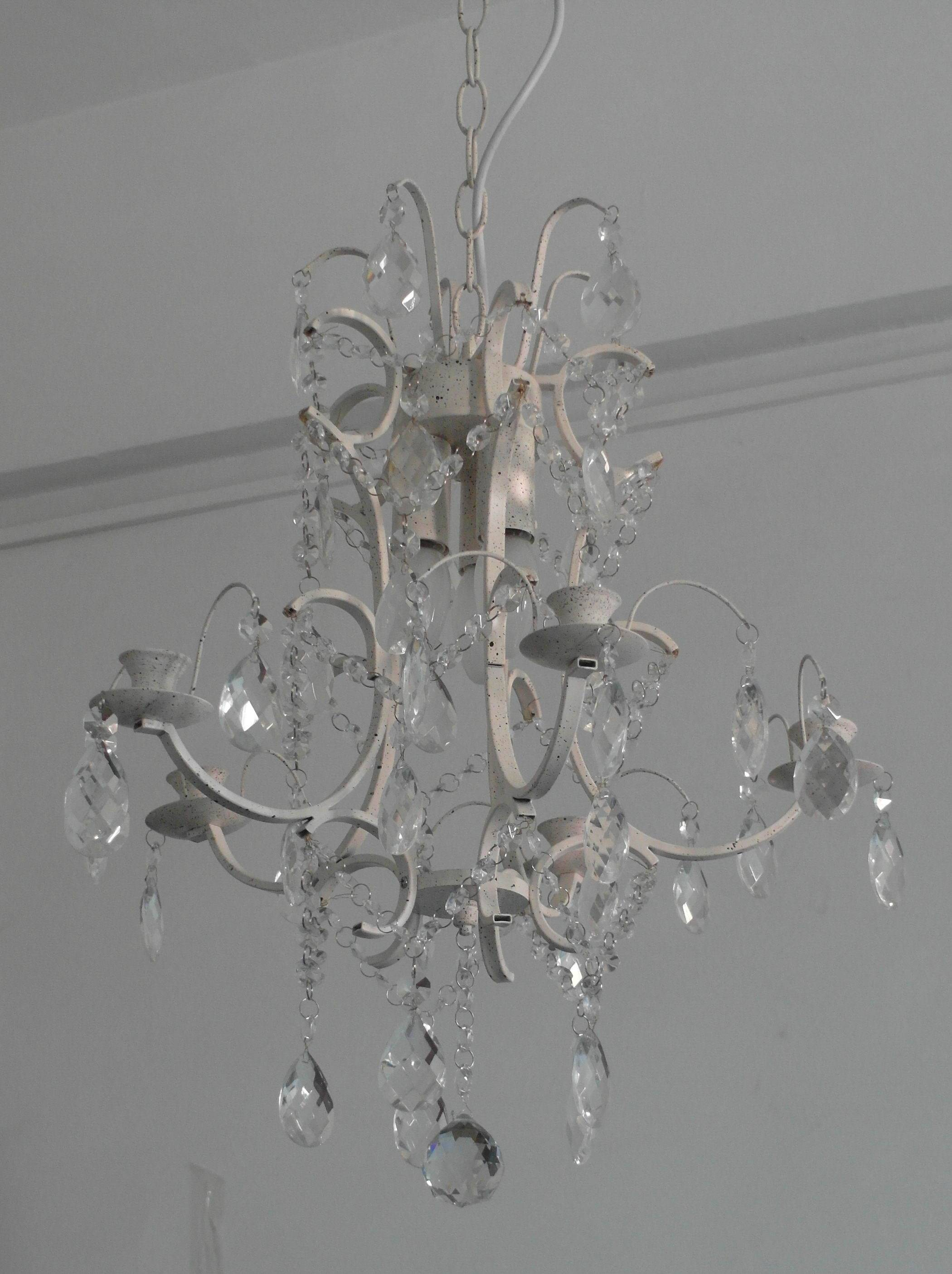 antique white Iron Chandelier/crystal candle chandelier/glass crystal chandeliers