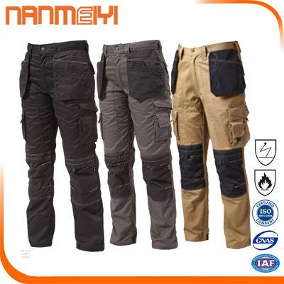 Work trousers with Removable pockets Safety Cargo Pants reflective Work overalls