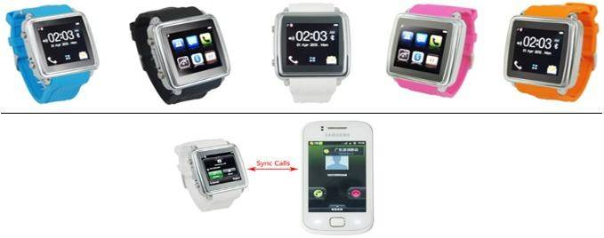Multi Color 1.55'' Bluetooth Smart Watch For Iphone/Android Phones