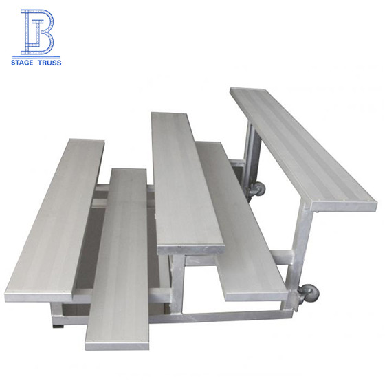 Factory Retractable Grandstand Seating Indoor/Outdoor Portable Mobile Tribune Aluminum Bleachers