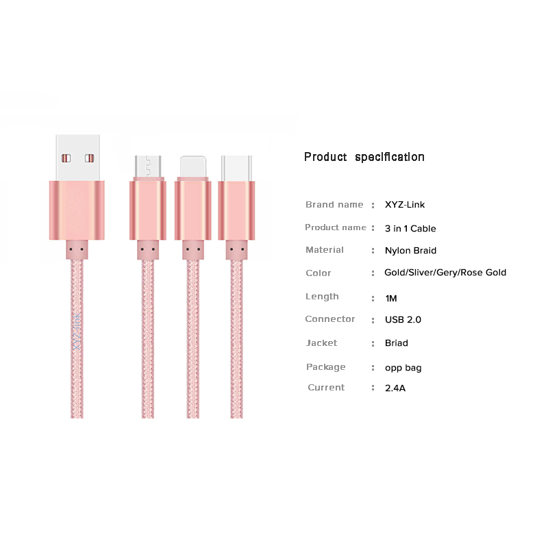 Reversible Design High-speed charging cable usb