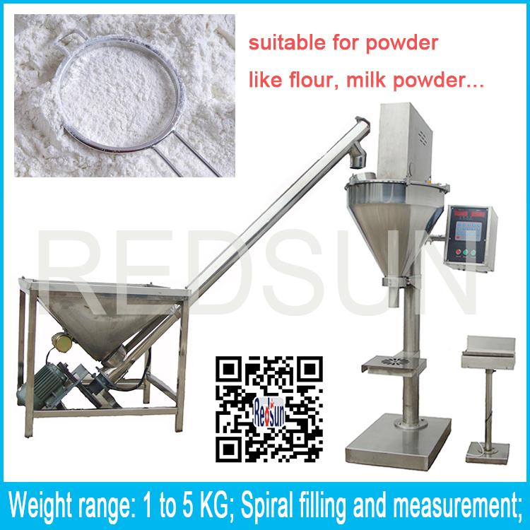 Low price 500g semi auto milk powder/bean powder/flour weighing filling packing machine by auger